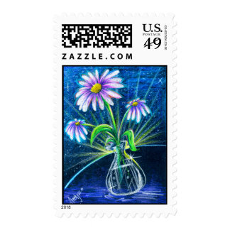 Daisies-1 postage stamps