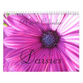 Daisies 2016 calendar