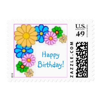 Daisies 2, HappyBirthday! Postage Stamp