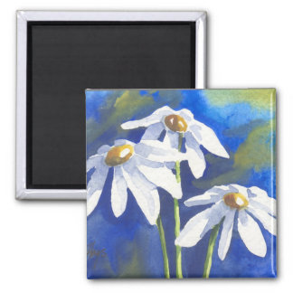 Daisies 2 Inch Square Magnet