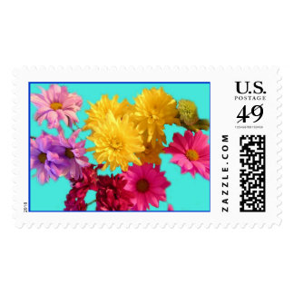 daisies 2 postage stamp