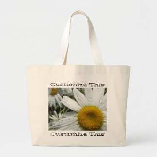 Daisies After the Rain; Customizable Tote Bag