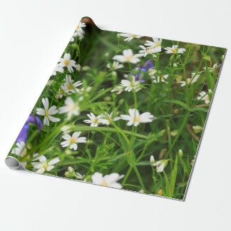 Daisies and Blue Bells Wrapping Paper