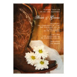 Daisies and Boots Country Wedding Invitation