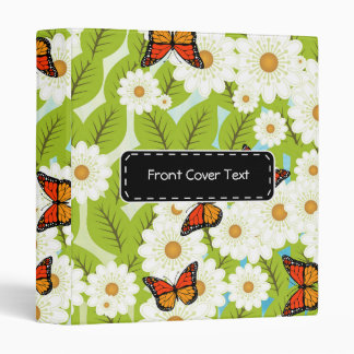 Daisies and butterflies 3 ring binder
