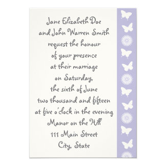 Daisies and Butterflies in Lavender Invitation