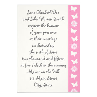 Daisies and Butterflies in Petal Pink Invitation