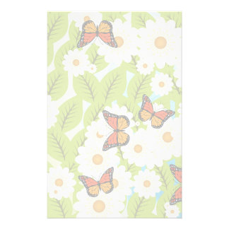 Daisies and butterflies stationery