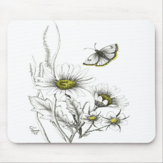 Daisies and Butterfly Mousepad
