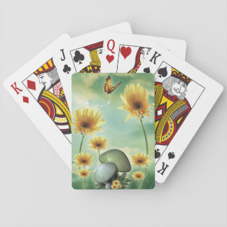 Daisies and Chanterelles Playing Cards