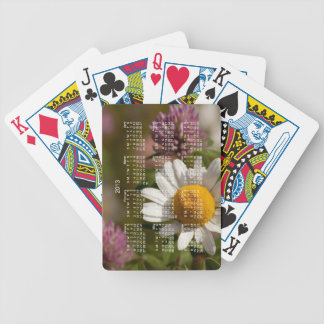 Daisies and Clover; 2013 Calendar Bicycle Playing Cards