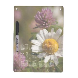 Daisies and Clover; 2013 Calendar Dry Erase Board