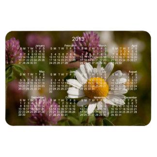 Daisies and Clover; 2013 Calendar Magnet