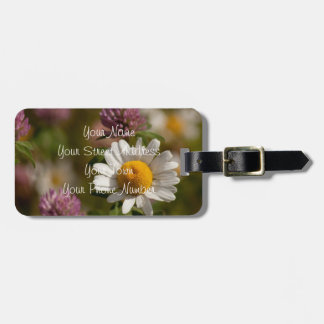 Daisies and Clover; Customizable Bag Tag