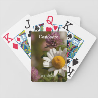 Daisies and Clover; Customizable Bicycle Playing Cards