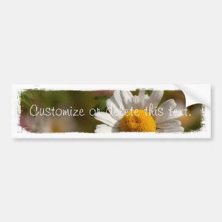 Daisies and Clover Customizable Bumper Sticker