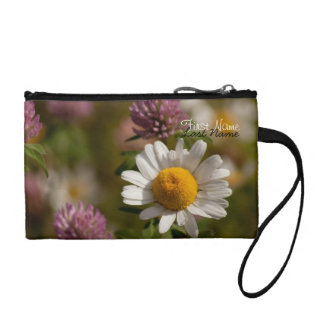 Daisies and Clover; Customizable Change Purse