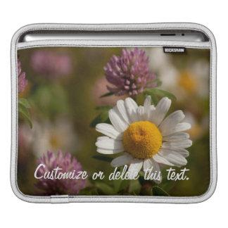 Daisies and Clover; Customizable iPad Sleeve