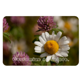 Daisies and Clover; Customizable Magnet