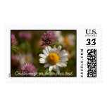 Daisies and Clover; Customizable Postage