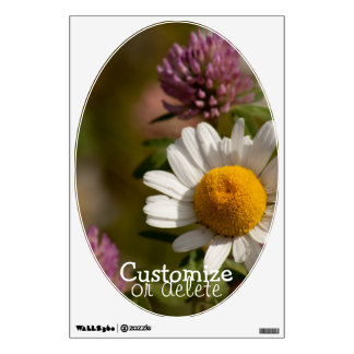 Daisies and Clover; Customizable Wall Sticker