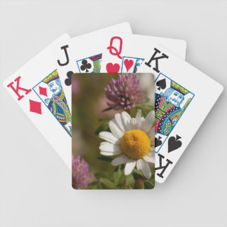 Daisies and Clover; No Text Bicycle Playing Cards