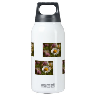 Daisies and Clover; No Text Thermos Water Bottle