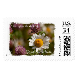 Daisies and Clover Postage Stamp