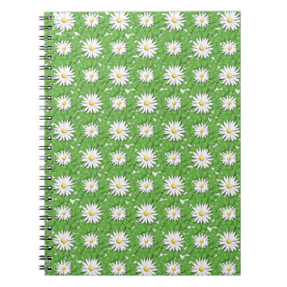 Daisies and Clover Spiral Notebook