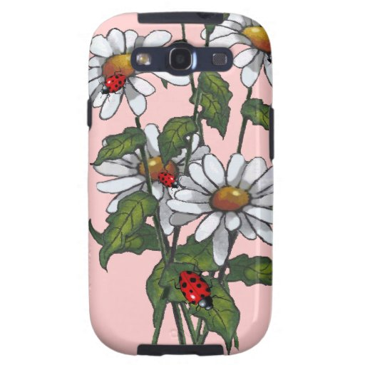 Daisies And Ladybugs: Art, Nature Galaxy S3 Covers