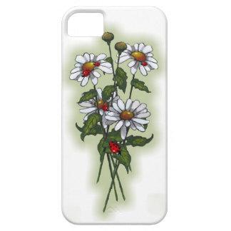 Daisies and Ladybugs, Ladybirds: Nature Art iPhone SE/5/5s Case