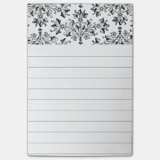 Daisies and Leaves Floral Art Lined Stickies Post-it Notes