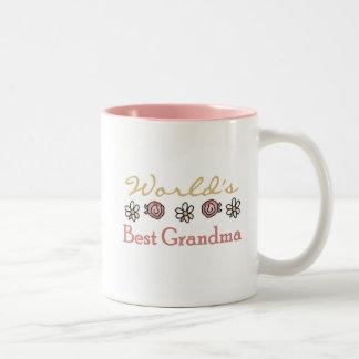 Daisies and Roses World Best Grandma Mugs