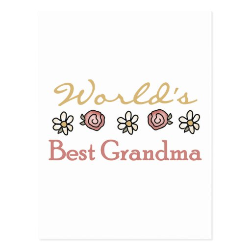 Daisies and Roses World Best Grandma Postcards