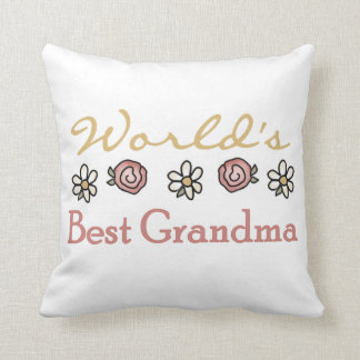 Daisies and Roses World's Best Grandma Gifts Pillows
