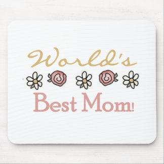 Daisies and Roses World's Best Mom Mouse Pad