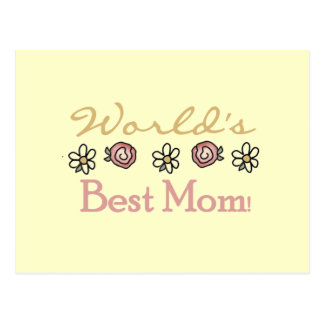 Daisies and Roses World's Best Mom Postcard