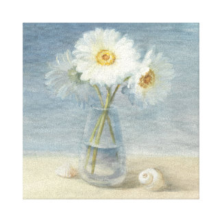 Daisies and Shells Canvas Print