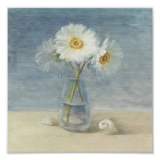 Daisies and Shells Poster