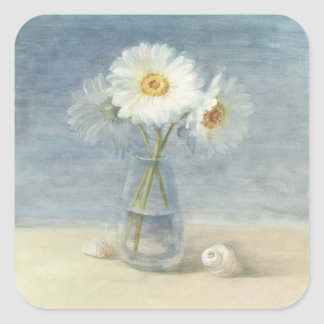 Daisies and Shells Sticker