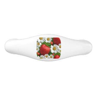 Daisies and Strawberries Ceramic Drawer Pull