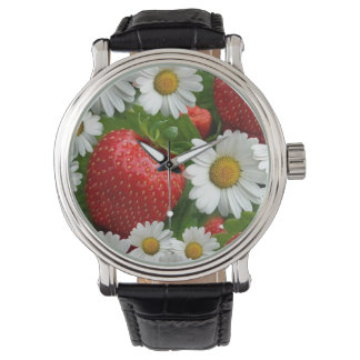 Daisies and Strawberries Watches