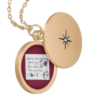 Daisies and Windchimes Poetry Necklace
