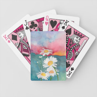 Daisies at Sunset Bicycle Playing Cards