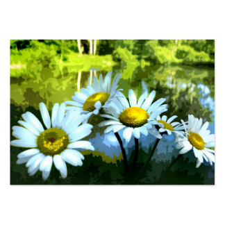 Daisies at the Pond ATC Large Business Cards (Pack Of 100)