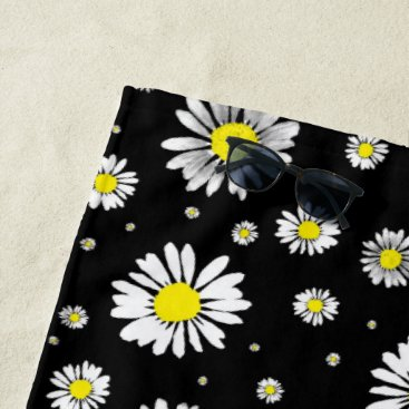 Beach Themed Daisies Beach Towel