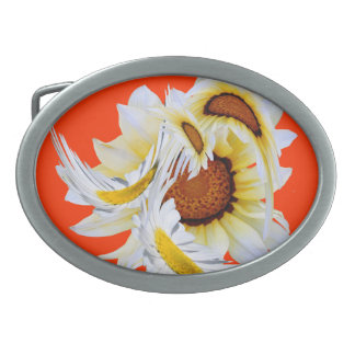 Daisies Oval Belt Buckles