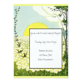 Daisies & Birds Bridal Shower Invitation