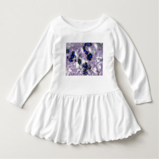Daisies black and blue bubbles shirt