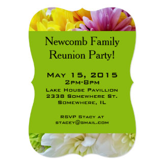 Daisies Bouquet Green-Party Invitation Template